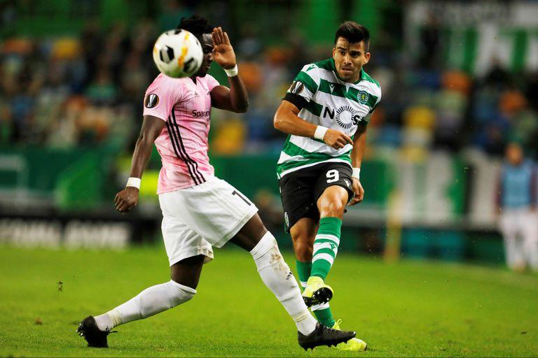 Marcos Acuña fue titular en Sporting de Lisboa, que sobre el final derrotó a rosenborg, de Noruega