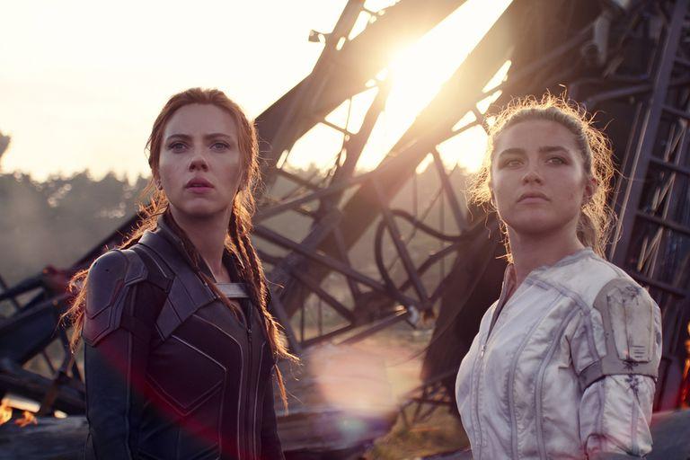 Johansson y Florence Pugh en Black Widow