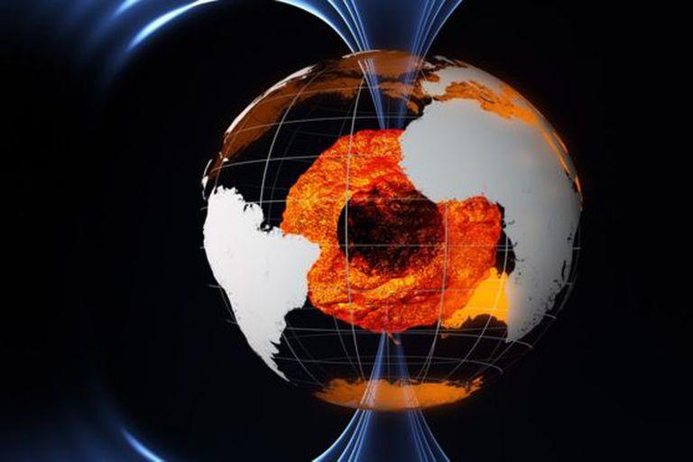 .El campo magnético de la Tierra se genera en su núcleo externo.