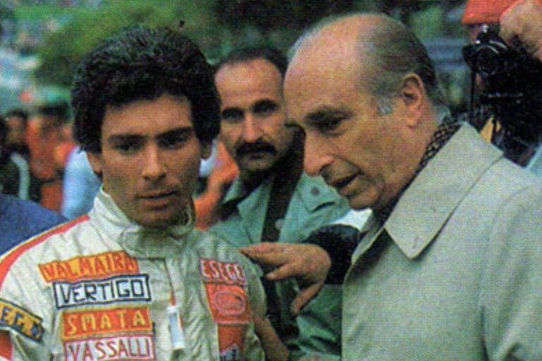 Larrauri junto a Juan Manuel Fangio