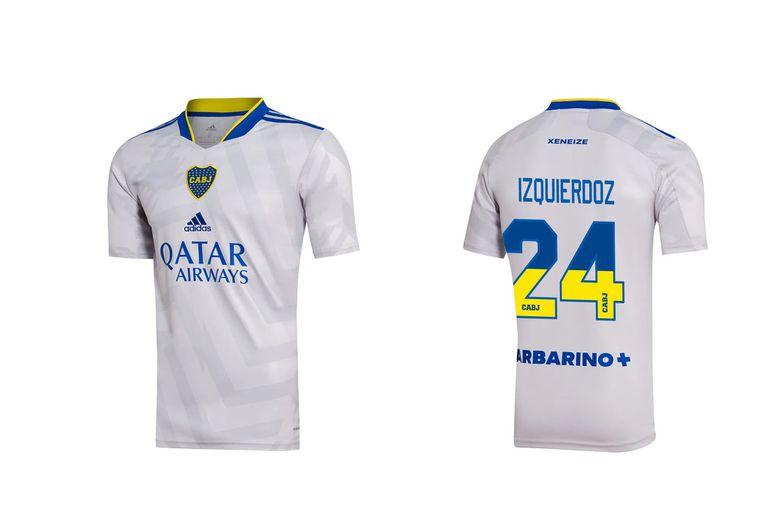 La nueva camiseta de Boca, con números bicolores