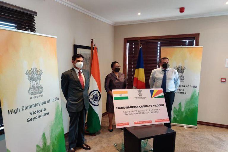 India donó 50.000 dosis de la vacuna Covishield a Seychelles