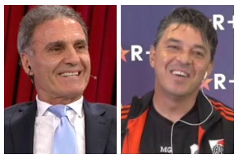 El diálogo cómplice entre Oscar Ruggeri y Marcelo Gallardo