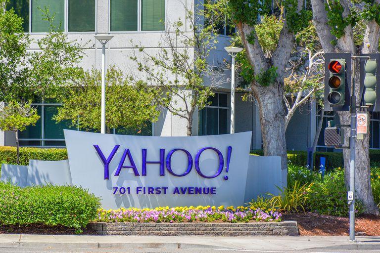 Una vista de la sede principal de Yahoo! en Sunnyvale, California