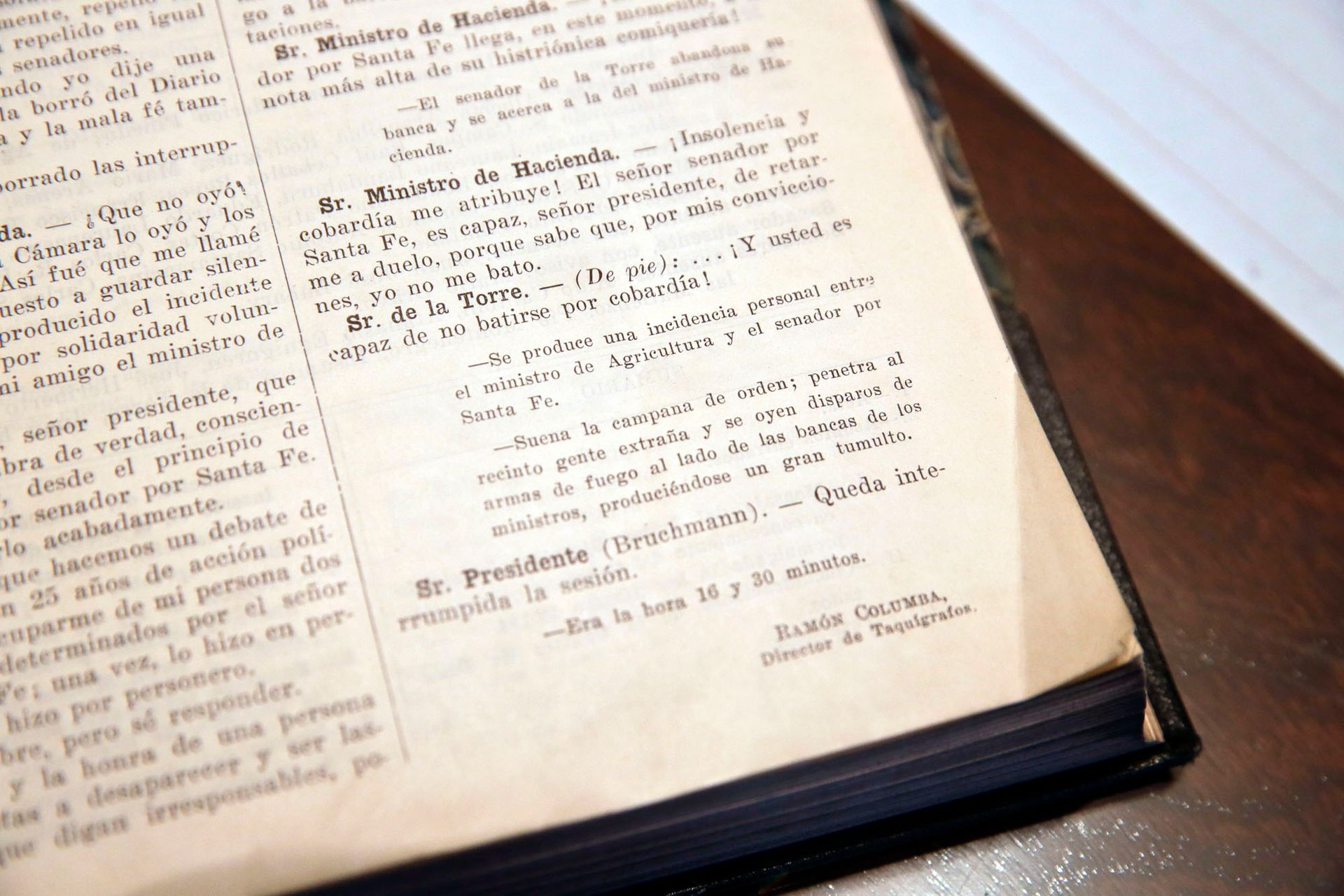 Esta es la transcripción taquigráfica de la sesión en la que asesinaron a Bordabehere en el Senado de la Nación, en 1935, mientras Lisandro de la Torre enunciaba las consecuencias del pacto Roca-Runciman.