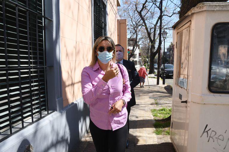 Vanesa Morla, camino a declarar en la Fiscalía General de San Isidro por la muerte de Diego Maradona
