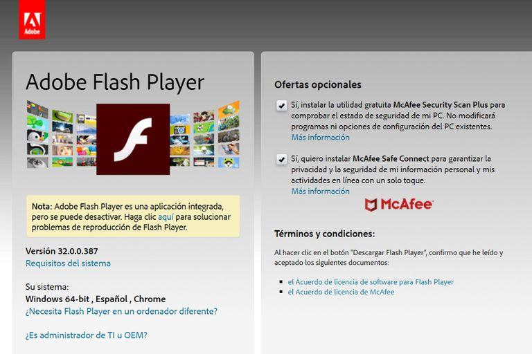 El 31 de diciembre de 2020 fue el último día de Adobe Flash Player. Desde entonces la compañía dejó de darle soporte al software e impide su descarga