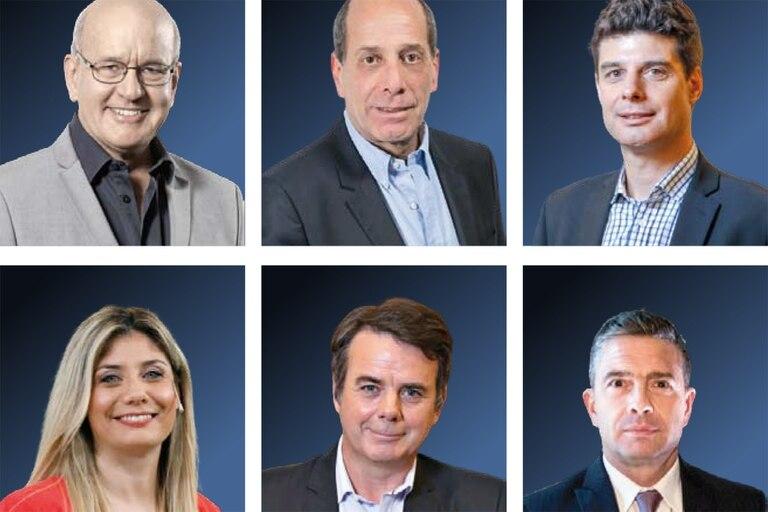 """Pablo Sirvén, Willy Kohan, Francisco Olivera, Viviana Valles, Gerardo """"Tato"""" Young y Pablo Rossi"""