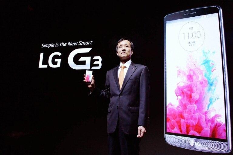 Jong-seok Park, el presidente de LG Mobile, durante la presentación del LG G3