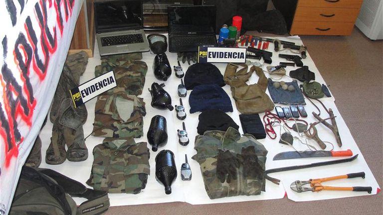 Jones Huala fue detenido en Chile en 2013 con un importante armamento en su poder