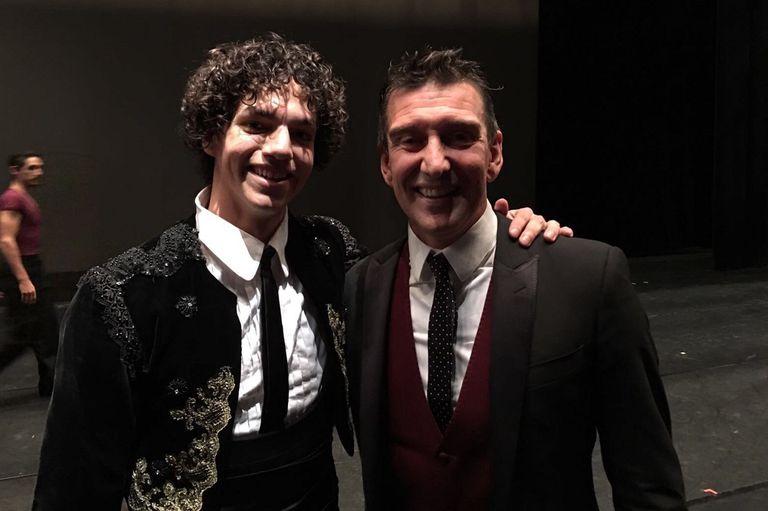 """El bailarín mexicano Isaac Hernández, ganador esta semana del """"Oscar de la danza"""", y Julio Bocca, la gran figura de la danza argentina"""