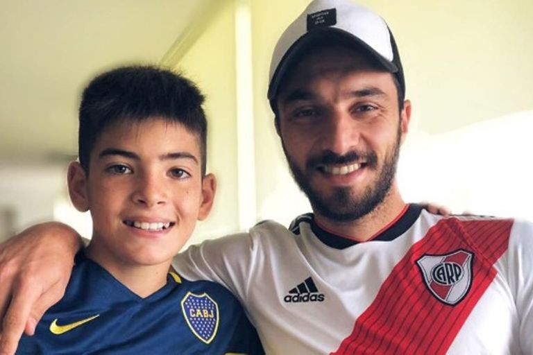 Ignacio Scocco y la foto con el chico de Boca
