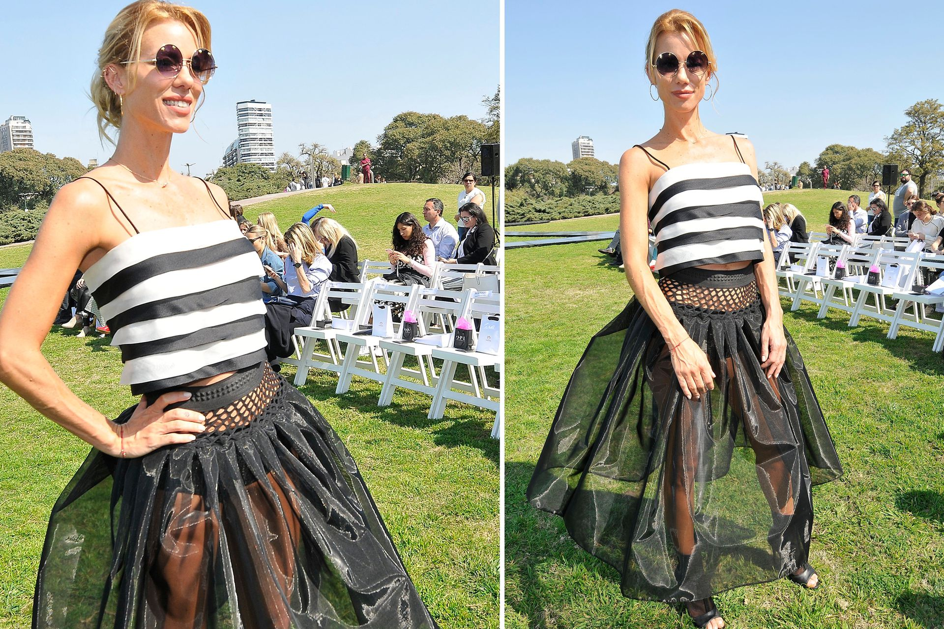 Con un look muy llamativo, Nicole Neumann dijo presente en el desfile de la nueva colección de Fabián Zitta