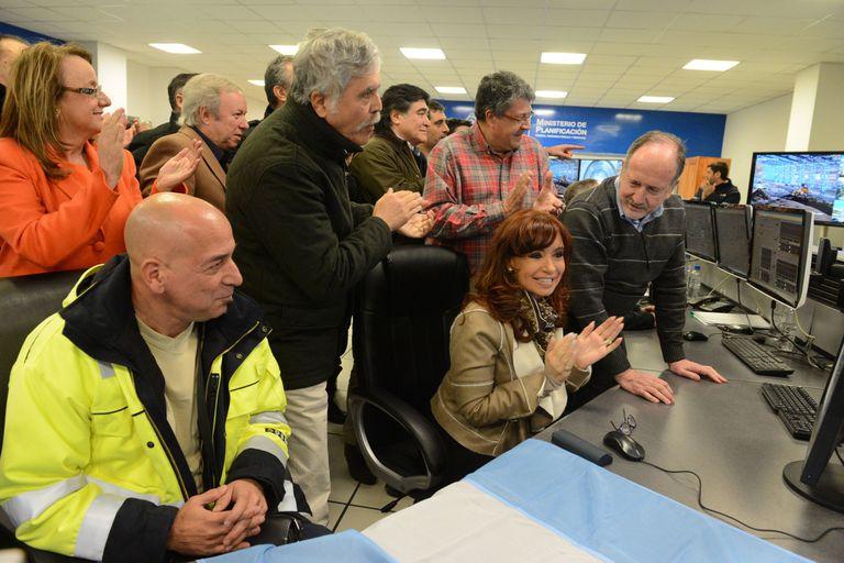 Cristina Kirchner, al inaugurar la usina de Río Turbio, que construyó Isolux