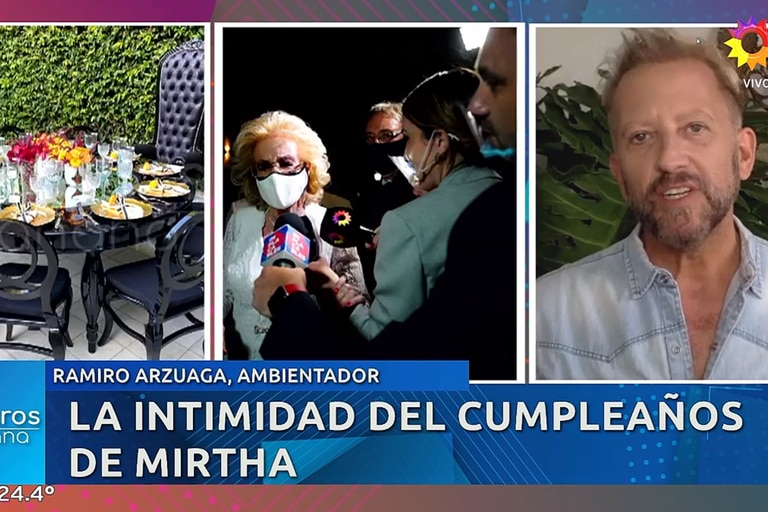 El decorador Ramiro Arzuaga dio detalles del cumpleaños de Mirtha