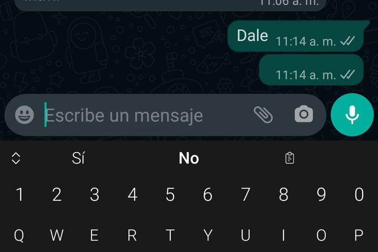 No se puede enviar un chat que sea sólo un espacio, pero sí insertar un caracter invisible y así enviar un mensaje vacío