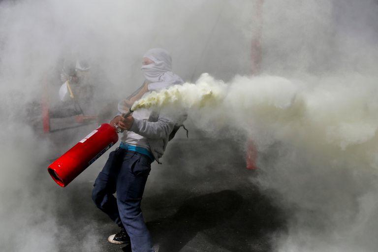 Siguen las protestas en Santiago de Chile