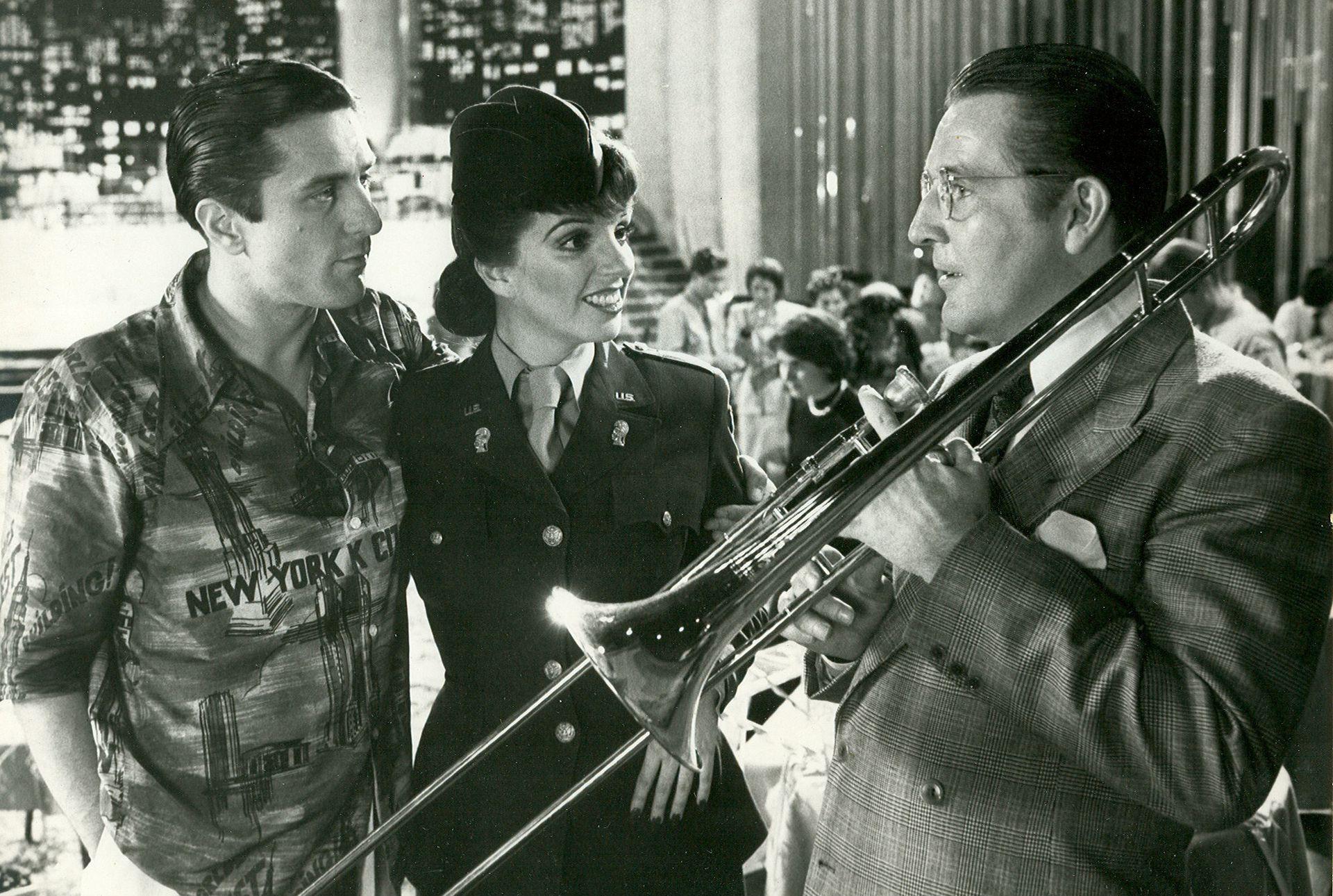 Robert De Niro y Liza Minnelli, en el rodaje de New York, New York.