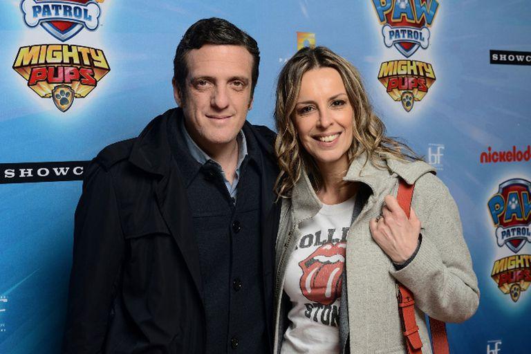 Mauro Szeta y su compañera Milva Castellini coincidieron en la premiere de Paw Patrol