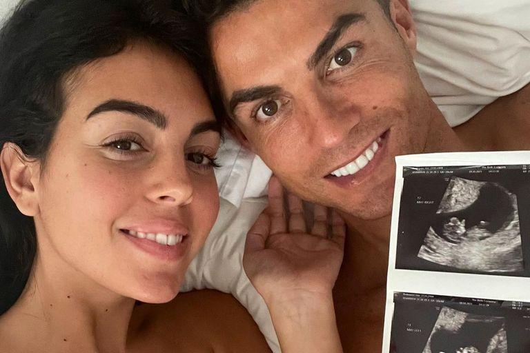 Cristiano Ronaldo y Georgina Rodríguez anunciaron que esperan mellizos