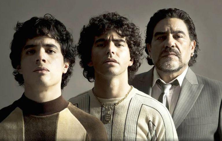 Nicolás Goldschmidt, Nazareno Casero y Juan Palomino son los que se ponen en la piel del campeón del mundo en México 86