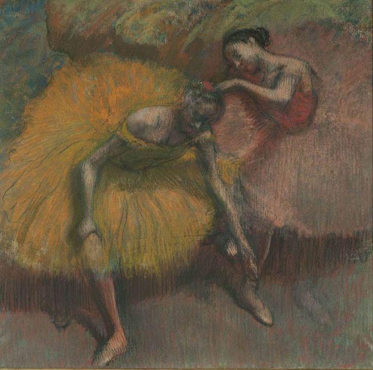 Amarillo y rosa, Edgar Degas, 1898