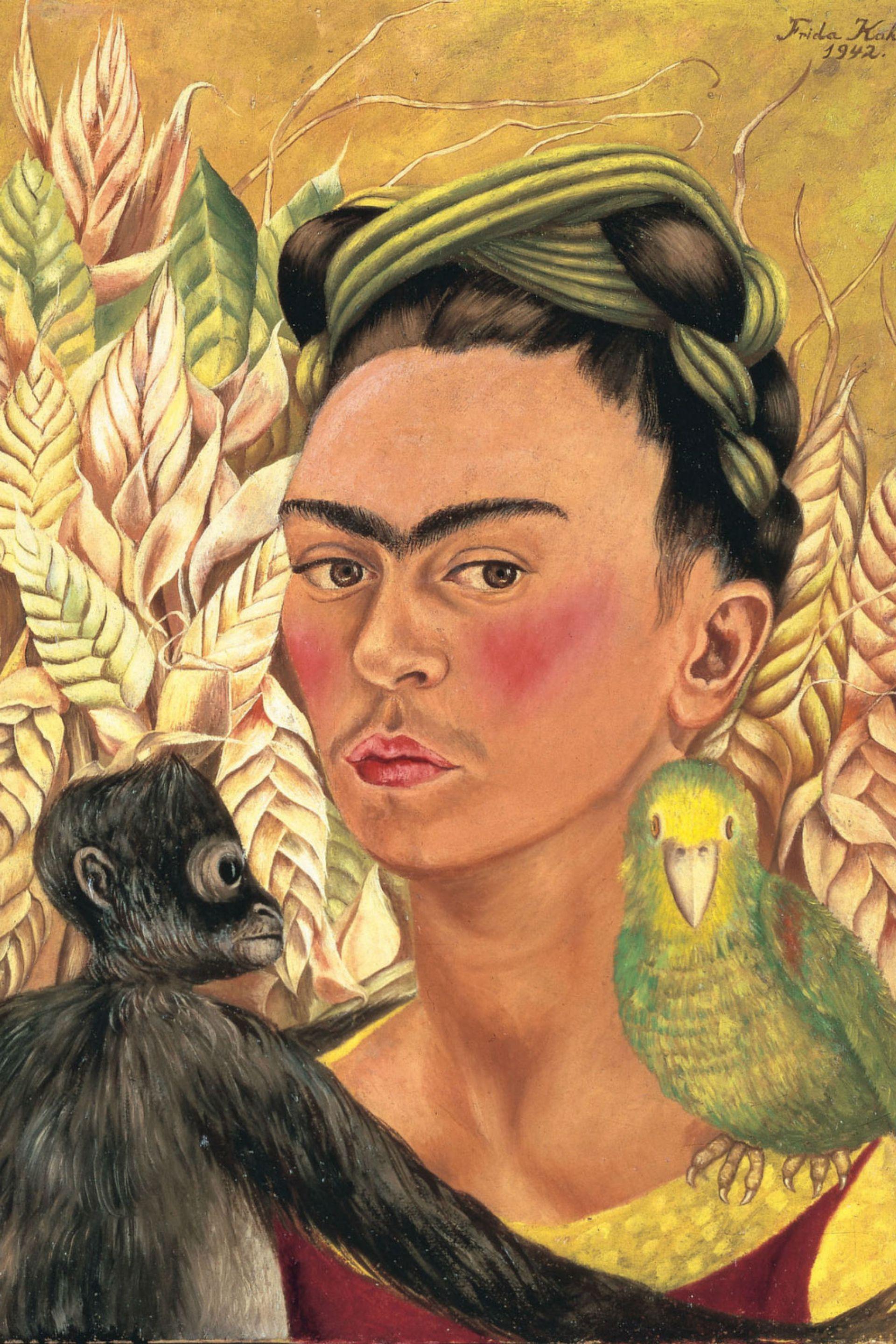 Autorretrato con chango y loro (detalle), obra de la colección del Malba que se sumaría en los próximos meses al proyecto Caras de Frida