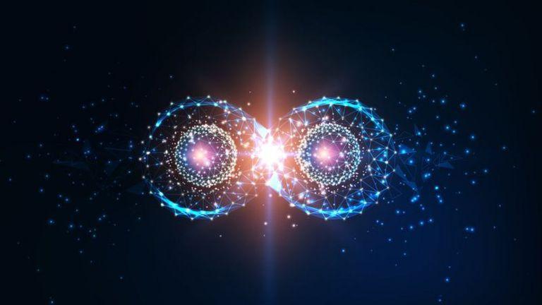 Las partículas pueden entrelazarse, en un fenómeno llamado entrelazamiento cuántico