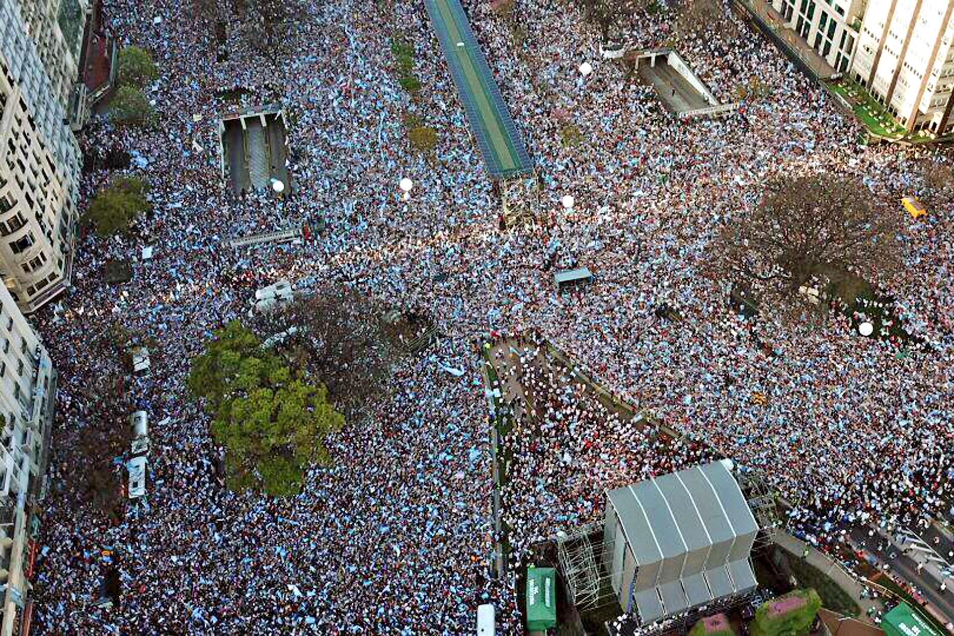 La Marcha del Millón desde el drone de LA NACION