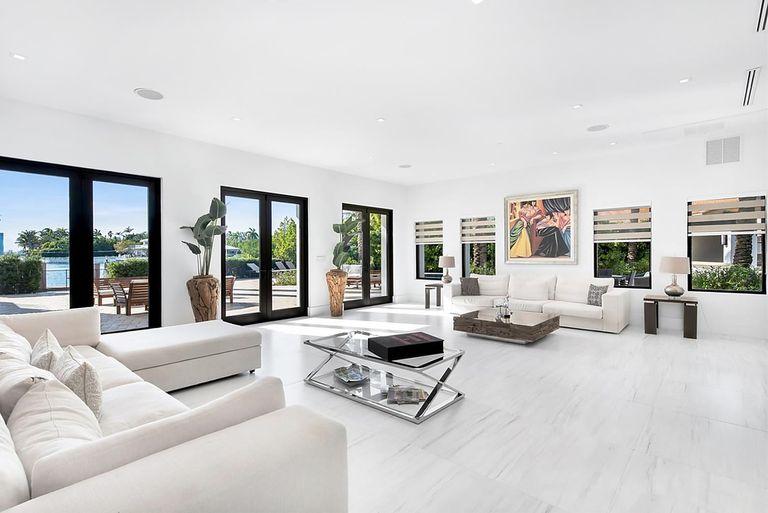 Los interiores fueron cuidadosamente encargados por el dueño de la casa, Paul Morelli
