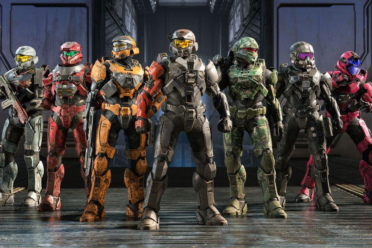 Algunas de las combinaciones posibles de armadura para el Halo Infinite