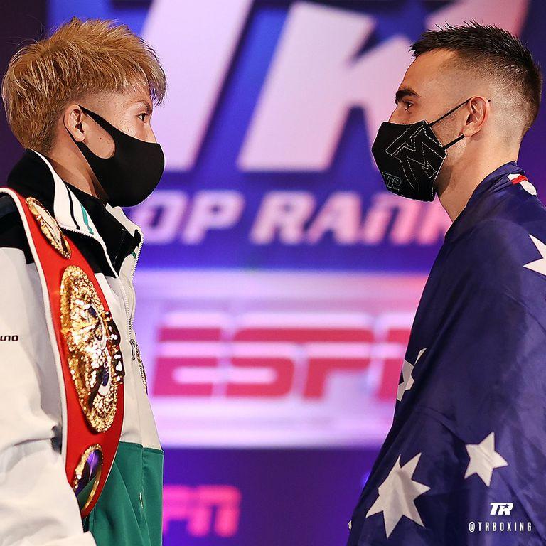 El japonés Naoya Inoue se medirá esta noche ante el australiano Jason Moloney