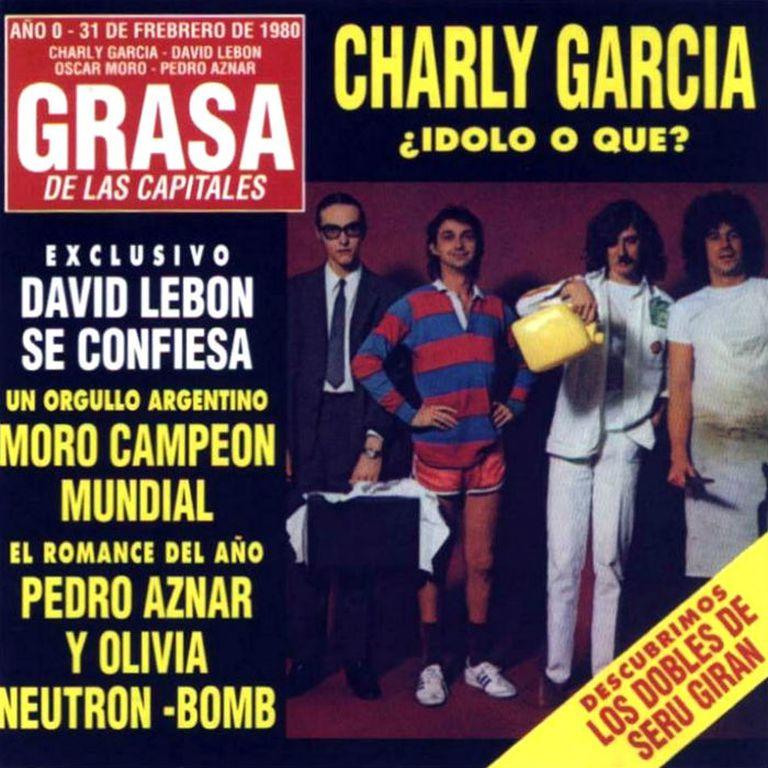 Tapa original del disco La Grasa de las capitales, de Serú Girán