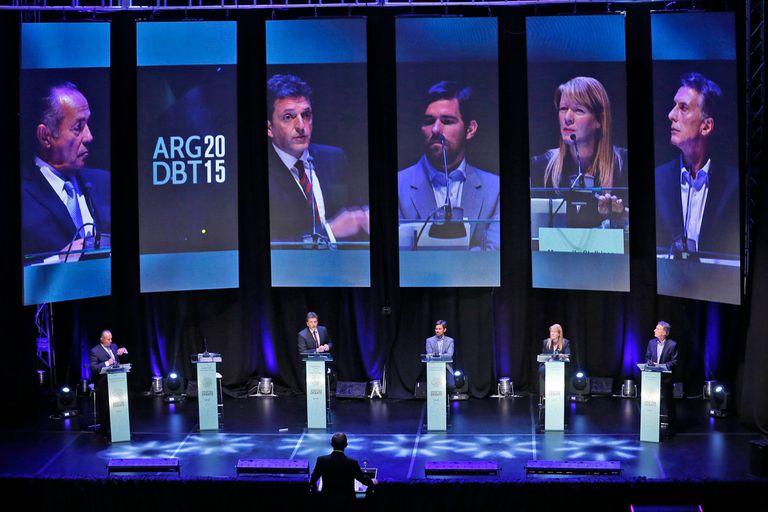 Los candidatos presentes en el debate