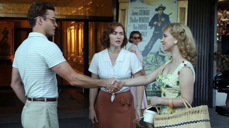 Justin Timberlake, Kate Winslet y Juno Temple en La rueda de la maravilla, de Woody Allen