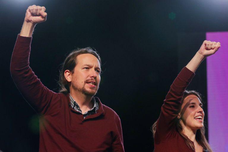 Pablo Iglesias, líder de Unidas Podemos y vicepresidente del Gobierno de España, e Irene Montero, ministra de Igualdad
