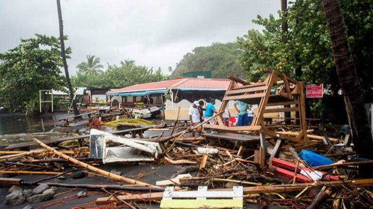 La pequeña isla fue gravemente dañada por el paso del huracán