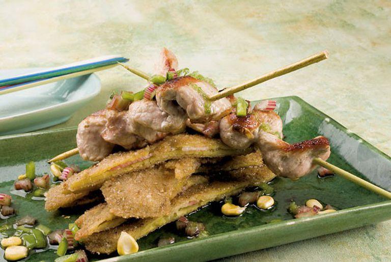 Pinchos de matambrito con batatas