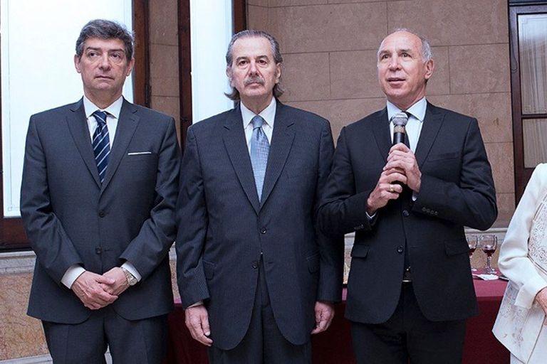 Los jueces de la Corte Horacio Rosatti, Juan Carlos Maqueda y Ricardo Lorenzetti