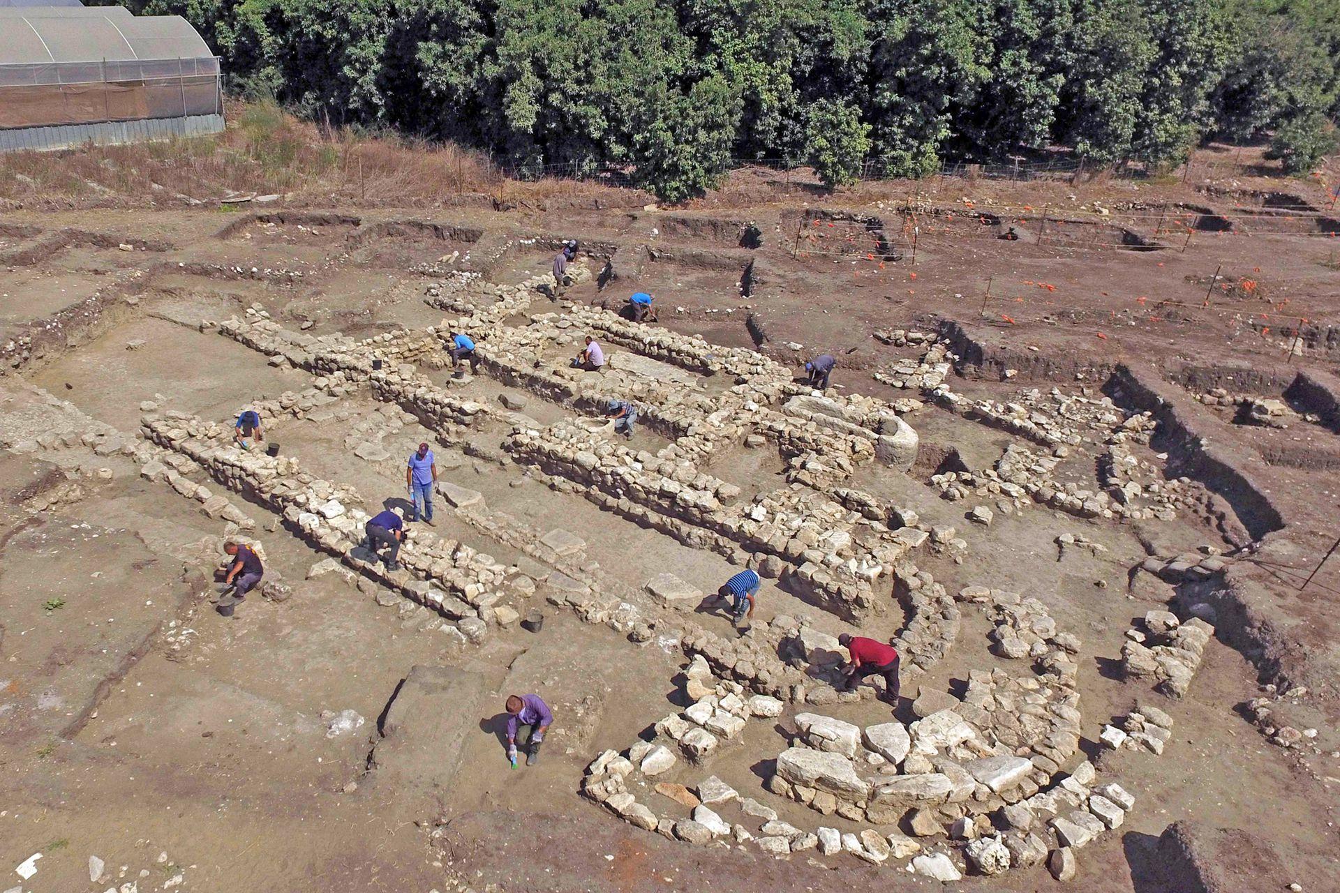 Vista de una amplia zona de la excavación