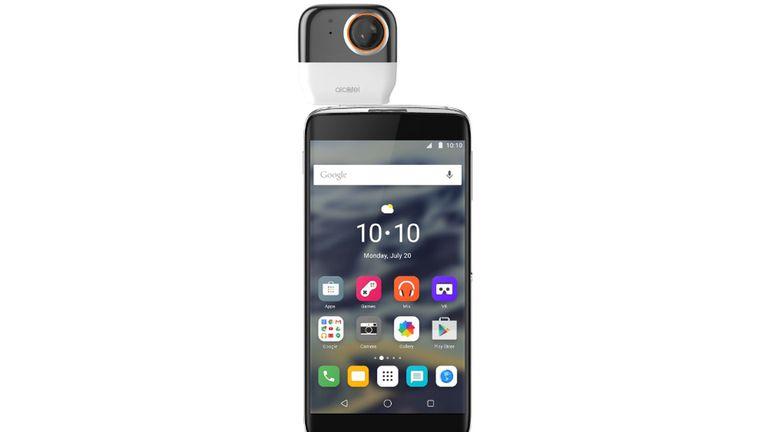 La cámara 360 de Alcatel se puede conectar en forma directa al teléfono; no tiene batería ni almacenamiento propio