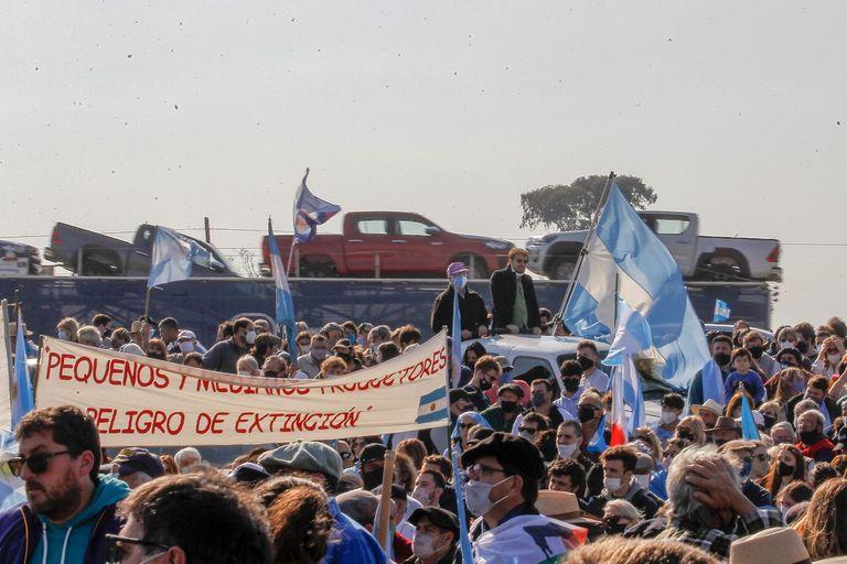En el acto en San Nicolás se escucharon fuertes críticas al Gobierno desde distintos sectores económicos