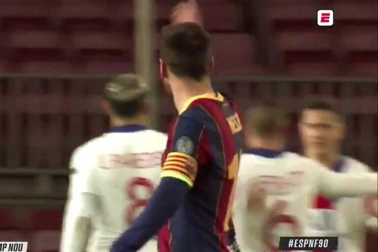 El enojo de Messi con sus compañeros tras el segundo gol de PSG
