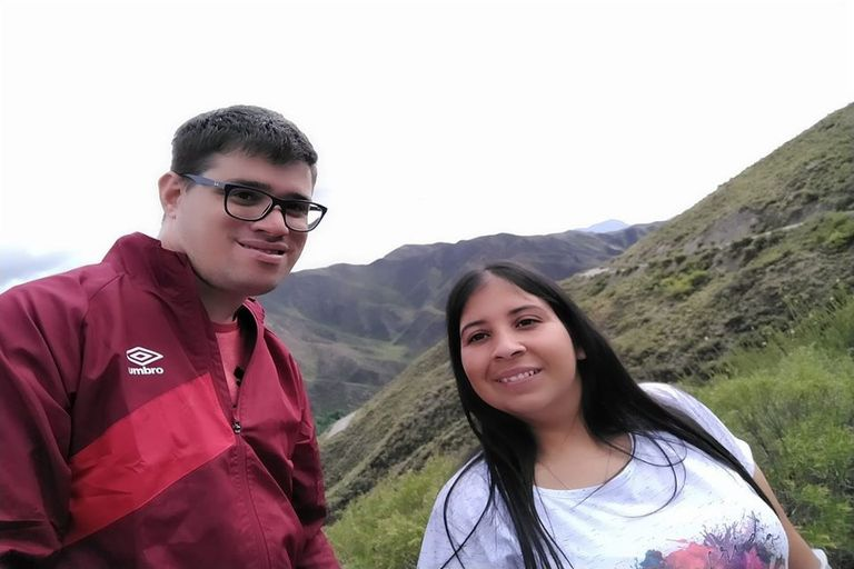 Junto a Luisina, el amor de su vida
