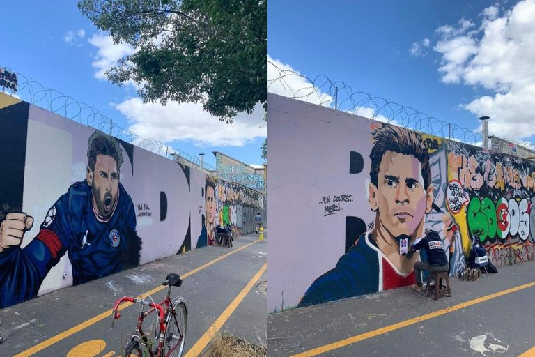 El impresionante mural está situado en el barrio obrero de la capital gala, sobre la calle Ordener, a medio camino entre las estaciones de subte de Marx-Dormoy y Marcadet-Poissonniers, en el distrito 18