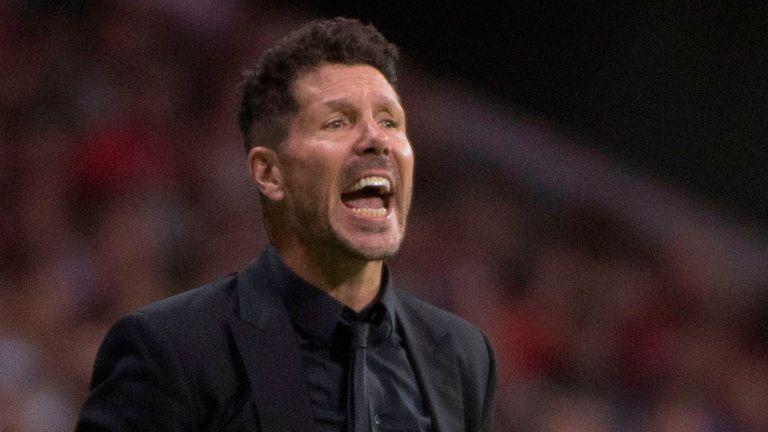 Simeone, preocupado por el juego del Atlético Madrid