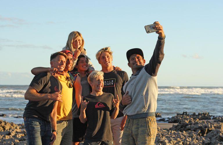 Selfie grupal para retratar una gran aventura