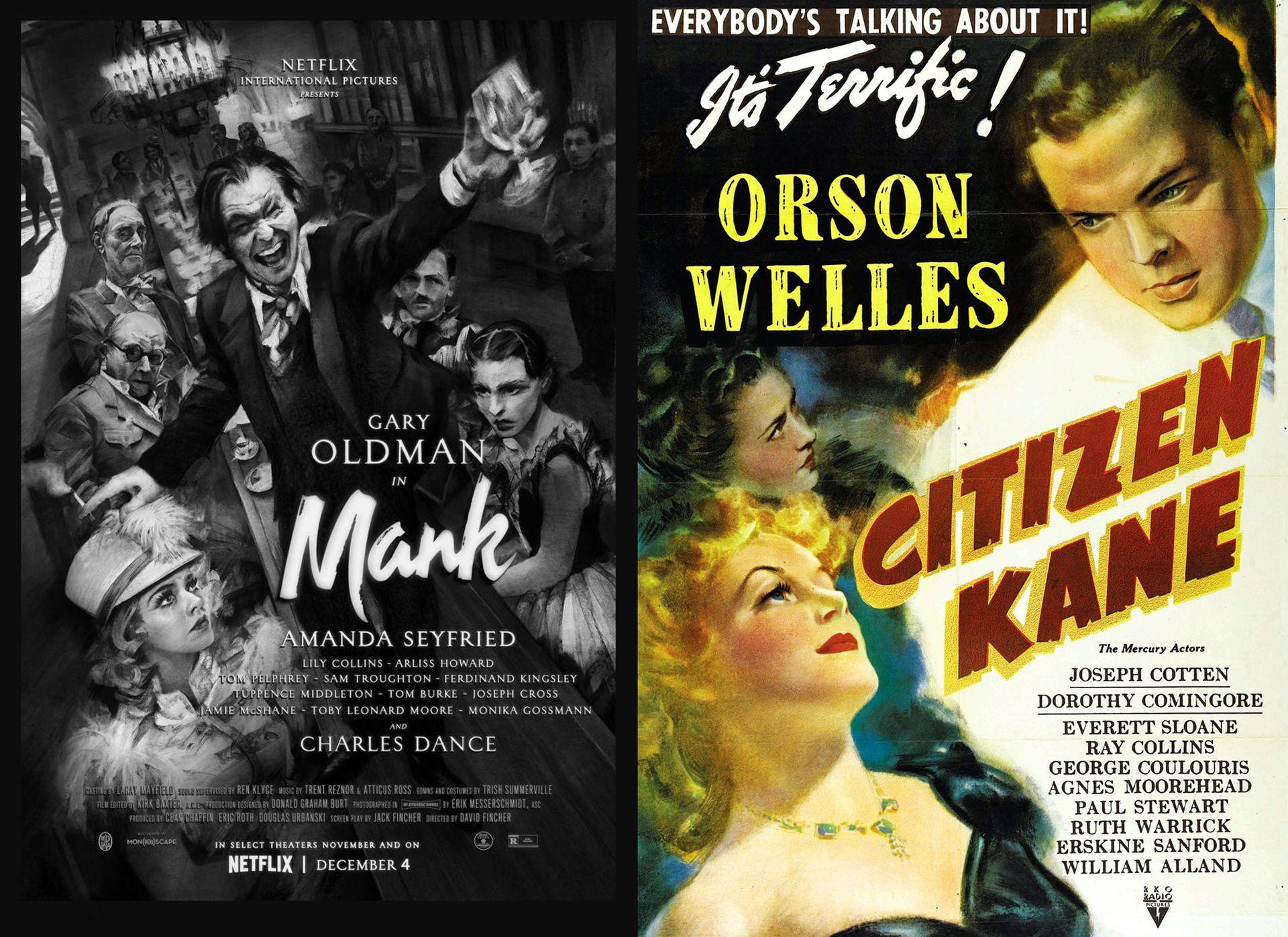 Mank y Ciudadano Kane, los filmes que compitieron por el Oscar y tienen al castillo Hearst y la vida de su propietario como inspiración.