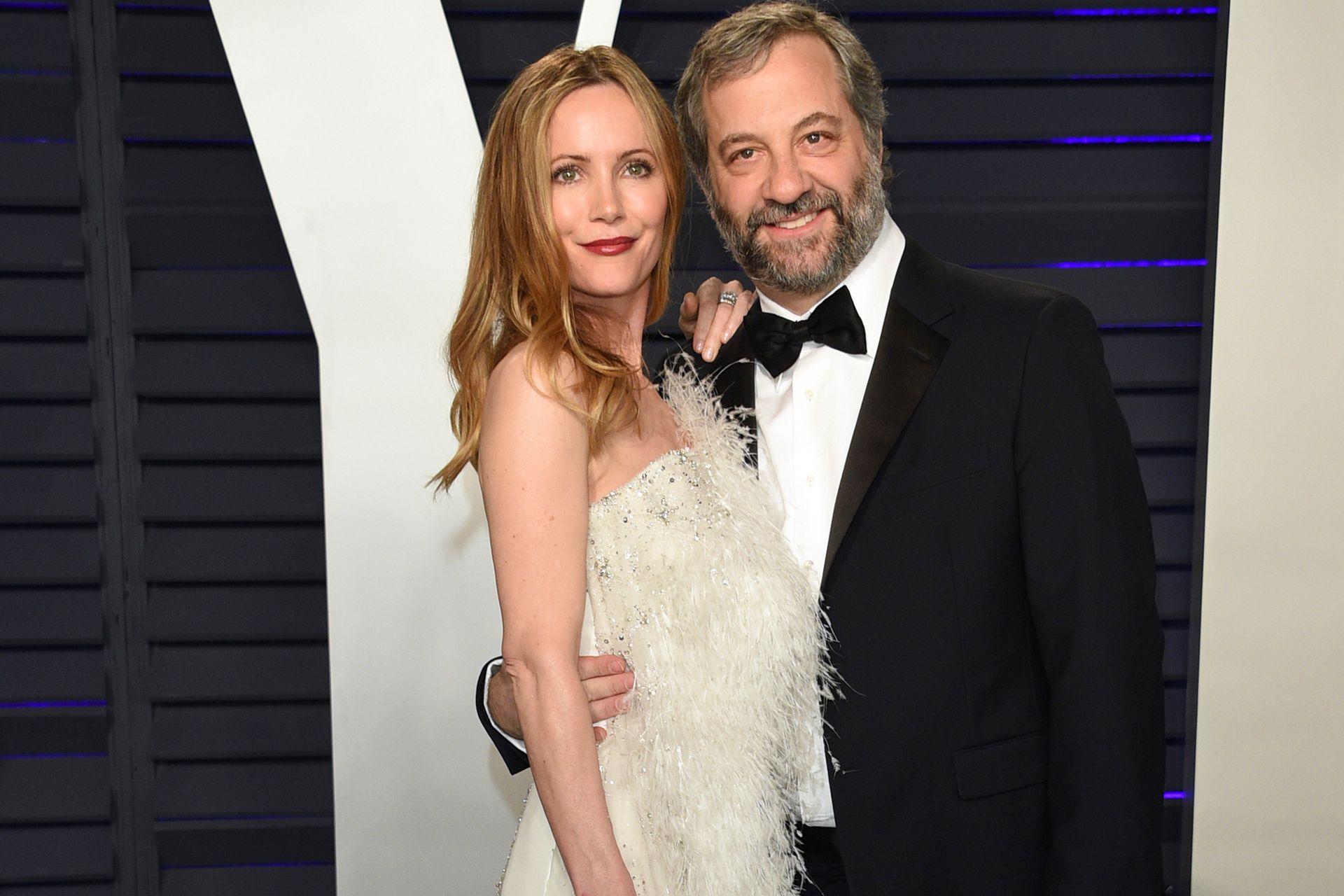Leslie Mann y Judd Apatow posaron muy juntos en la fiesta de Vanity Fair