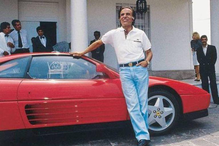 La historia secreta de la Ferrari de Menem, el ícono que marcó los 90